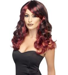 Ombre Wig, Devilish, Red & Black