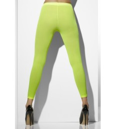 Opaque Footless Tights, Neon Green