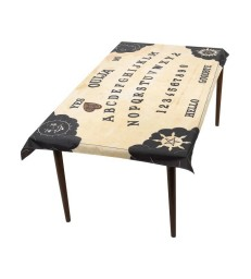 Ouija Board Table Cloth & Planchette Coaster, Natu