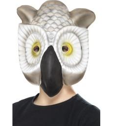 Owl Mask, Grey & White