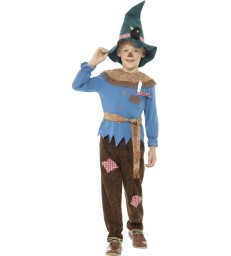 Patchwork Scarecrow Costume, Brown
