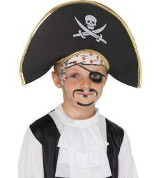 Pirate Captain Hat, Black