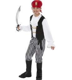 Pirate Costume, Black & White