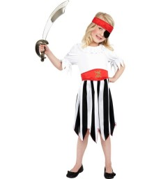 Pirate Girl Costume, Black & White