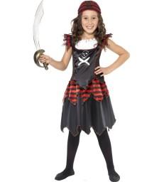Pirate Skull & Crossbones Girl Costume, Black