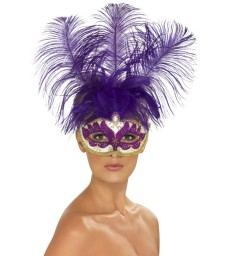 Can Can Beauty Eyemask with Feather, Purple