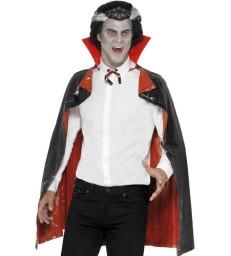 PVC Reversible Vampire Cape, Black & Red