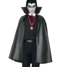 PVC Vampire Cape, Black
