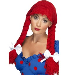 Rag Doll Wig, Red
