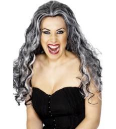 Renaissance Vamp Wig, Black & White