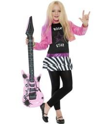 Rockstar Glam Costume, Black