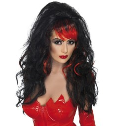 Seductress Wig, Black