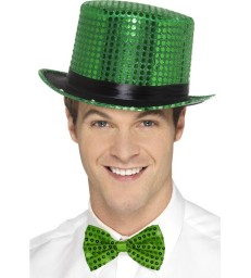 Sequin Top Hat, Green