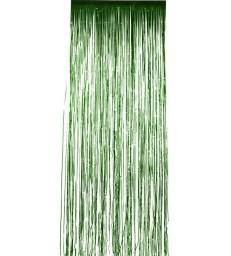 Shimmer Curtain, Metallic Green