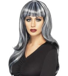 Sinister Siren Wig, Black & Grey
