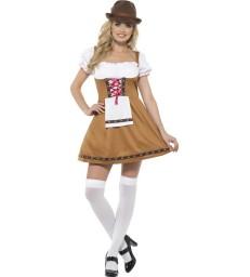 Bavarian Beer Maid Costume, Brown