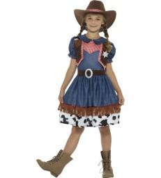Texan Cowgirl Costume, Blue
