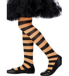 Tights, Orange & Black