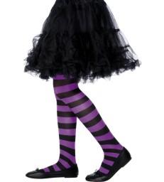 Tights, Purple & Black