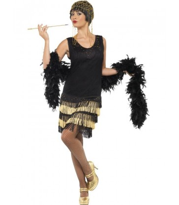 1920s Fringed Flapper Costume2