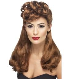 40s Vintage Wig, Auburn