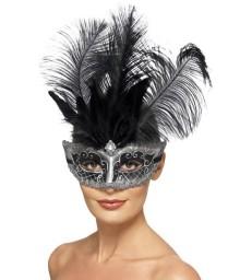 Venetian Colombina Eyemask, Grey