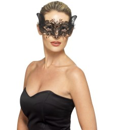 Venetian Metal Filigree Feline Eyemask