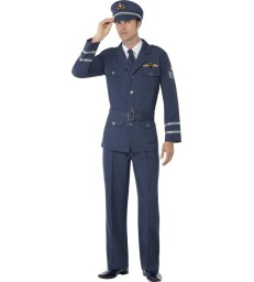 WW2 Air Force Captain Costume, Blue