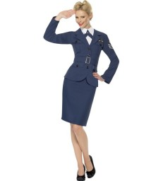 WW2 Air Force Female Captain, Blue