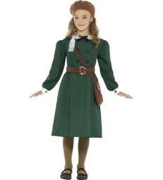 WW2 Evacuee Girl Costume, Green