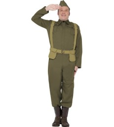 WW2 Home Guard Private Costume, Green