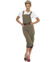 WW2 Land Girl Costume, Khaki