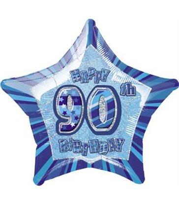 "20"" PKG BLUE STAR PRISM 90 FOIL BALLOON"