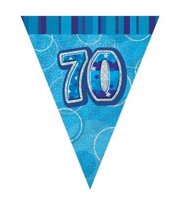 BLUE GLITZ 70 FLAG BANNER 9FT
