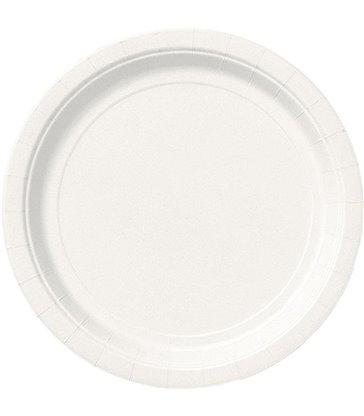 "16 BRIGHT WHITE 9"" PLATES"