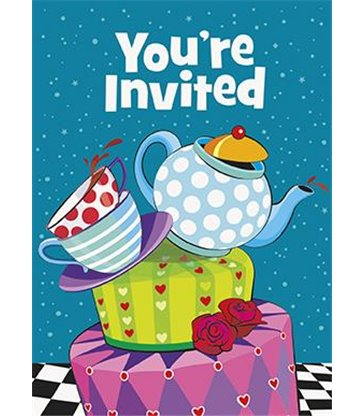 8 MAD TEA PARTY INVITES