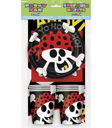 PIRATE FUN PARTY PAK FOR 8