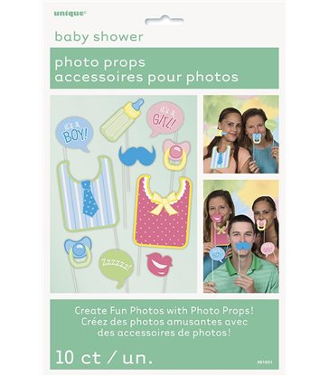 10 BBY SHOWER PHOTO PROPS