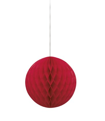 "HONEYCOMB BALL 8"" RED"