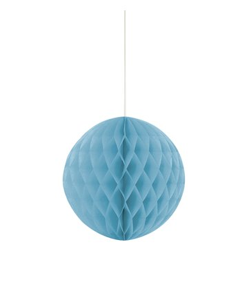 "HONEYCOMB BALL 8"" POWDER BLUE"