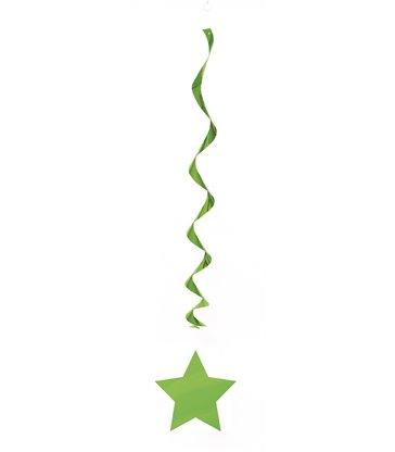 "3 LIME GREEN STAR HANG SWIRL-26"""