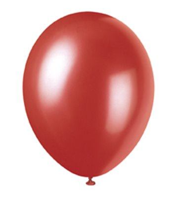 8 12'' PRL FLAME RED BALLOONS