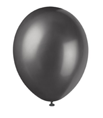 "8 12"" PRL INK BLACK BALLOONS"