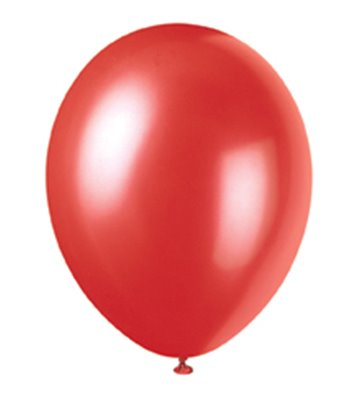 "50 12"" FLAME RED PEARLISED BALLOONS"