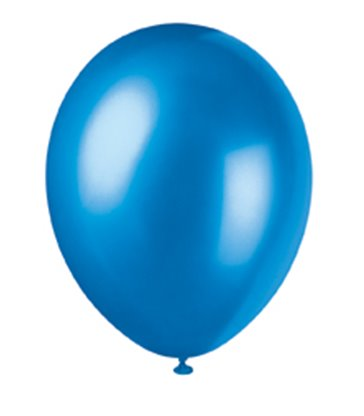 "50 12"" COSMIC BLUE PEARLISED BALLOONS"