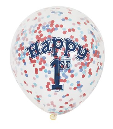 "6 CLR 12"" NAUTICAL 1BD BALLOONS W/CNF"
