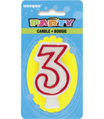 DELUXE NUMERL BIRTHDAY CANDLE 3