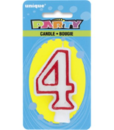 DELUXE NUMERL BIRTHDAY CANDLE 4