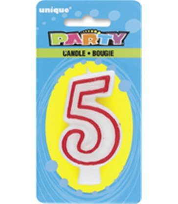 DELUXE NUMERL BIRTHDAY CANDLE 5