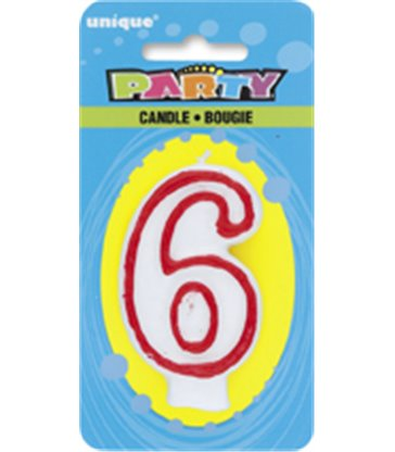 DELUXE NUMERL BIRTHDAY CANDLE 6